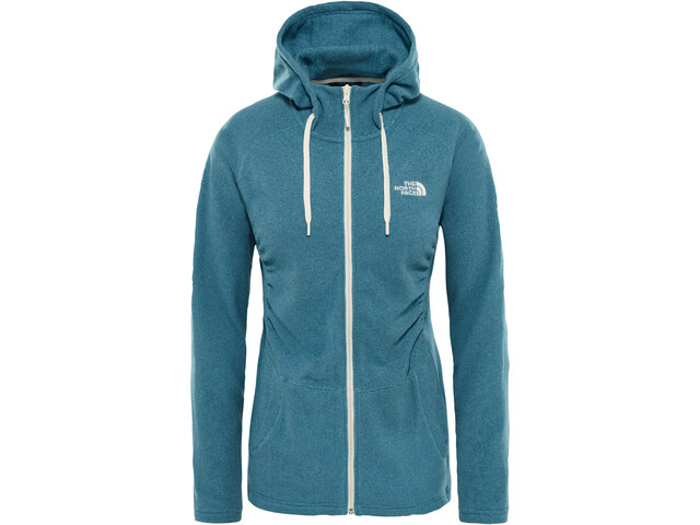 c3667f8dfa ... The North Face Mezzaluna Full Zip Hoodie Women storm blue stripe. The  ...